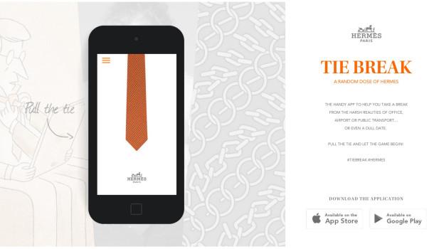 hermès digital application tie break