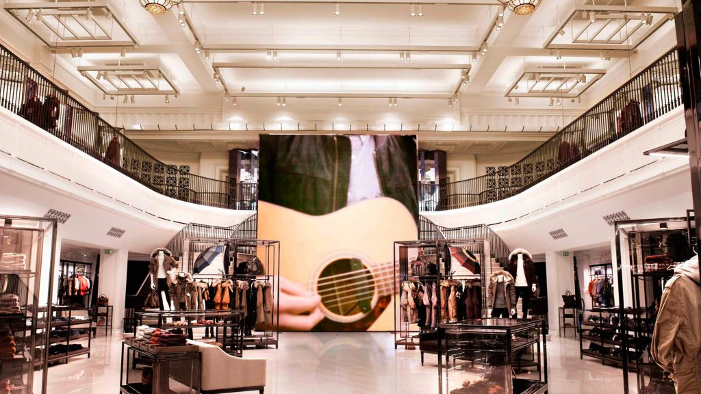 luxury retail experience Burberry digital