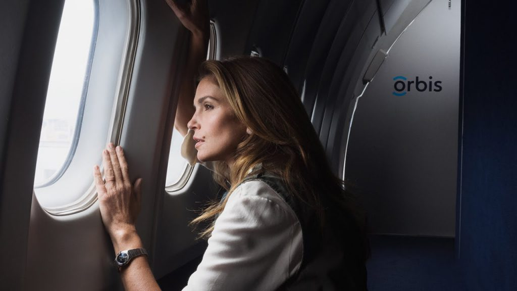 hospitality in the sky Cindy Crawford Omega campaign