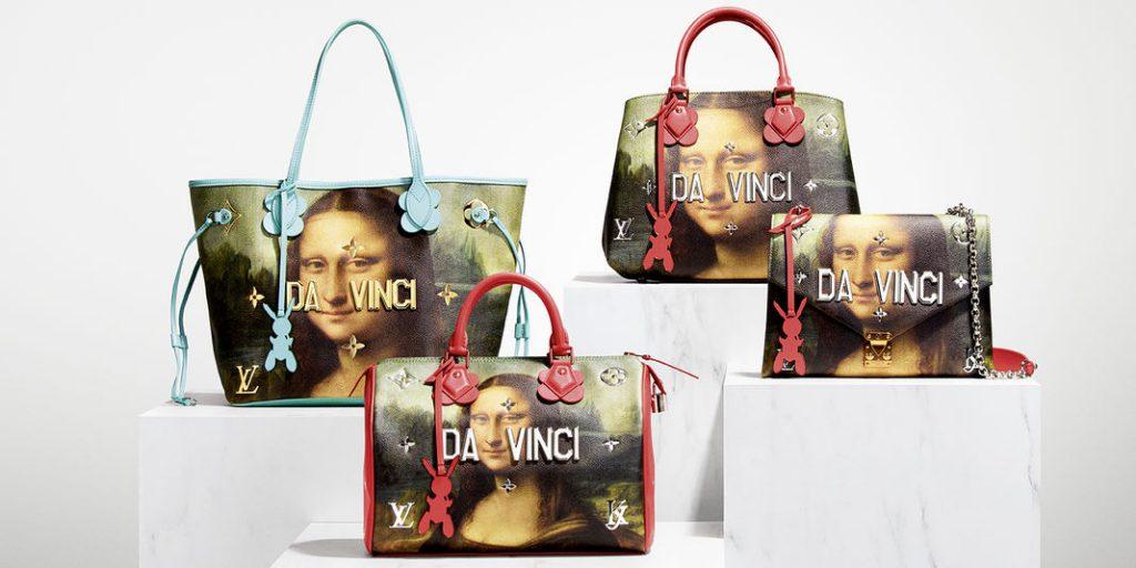 Collaboration Louis Vuitton et Jeff Koons sacs Da Vinci