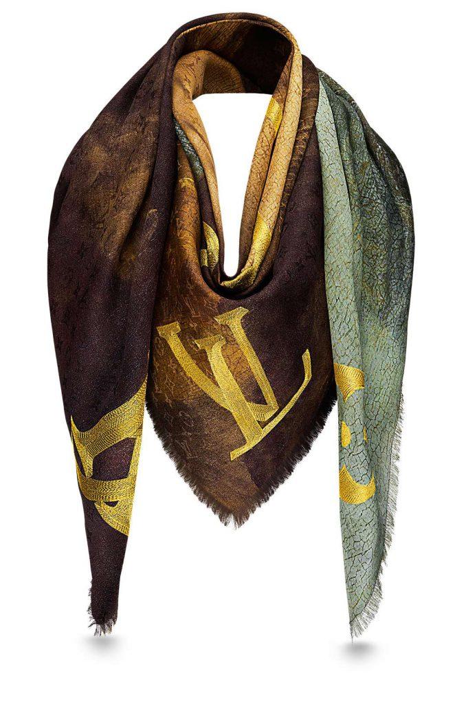 Collaboration Louis Vuitton et Jeff Koons châle